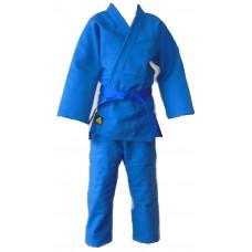 Кимоно ДЗЮДО плетеное синее